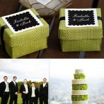Lime Green and Black Wedding